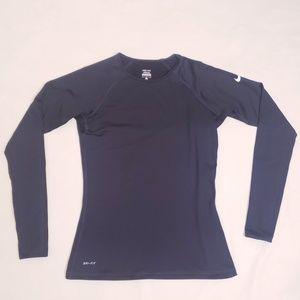 Nike Pro Dri-Fit Black Long Sleeve Layer Shirt, M